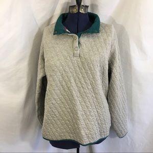 Orvis Outdoor Quilted Snap Sweatshirt XL gray
